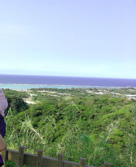 Nakijin Castle top beach view