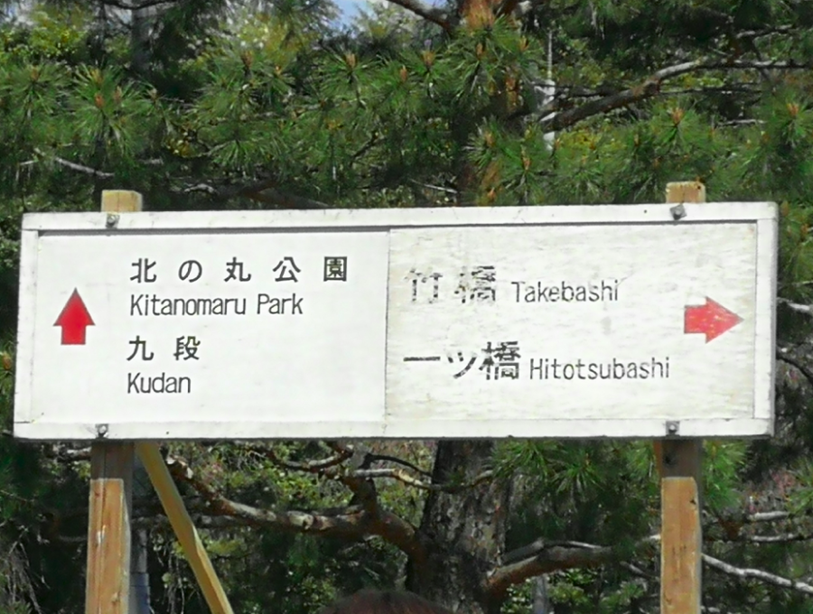 Signs in Imperial Palace