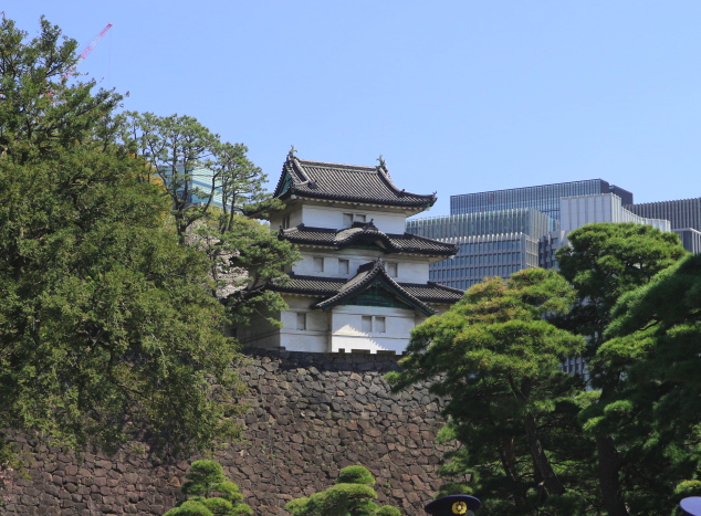 Inui St., Imperial Palace japan