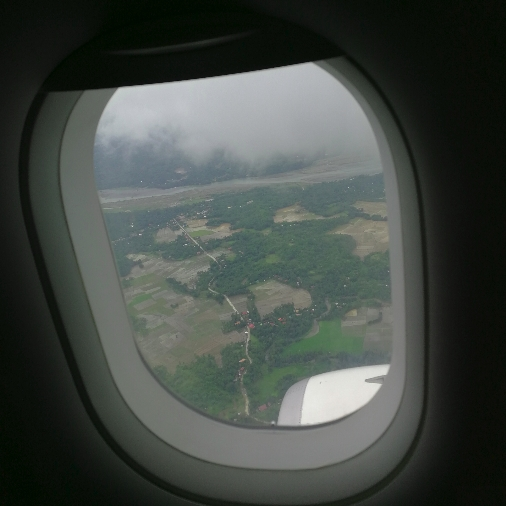 Caticlan view from air asia Philippines.
