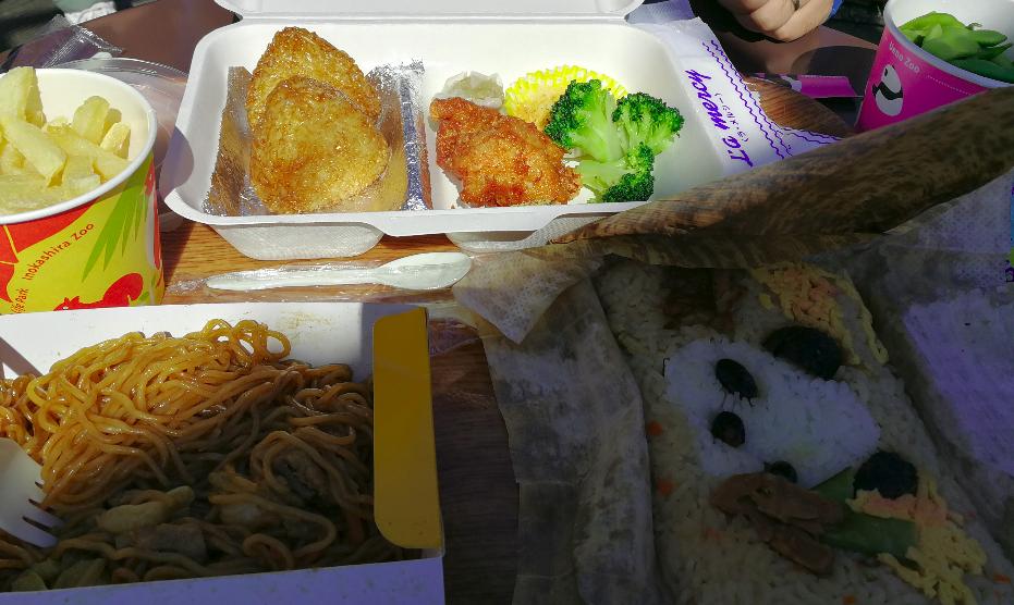 Ueno Zoo lunch Meal.