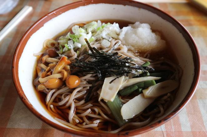 soba from Ouchi-juku Fukushima restaurant.