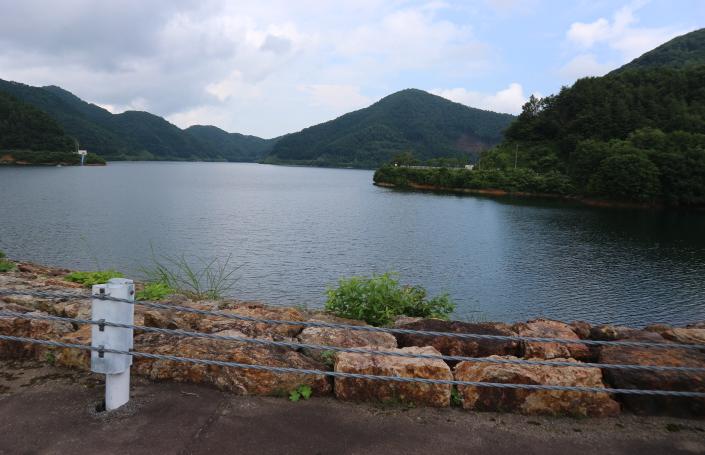 Water Dam at Ouchi-juku Fukushima, Japan.