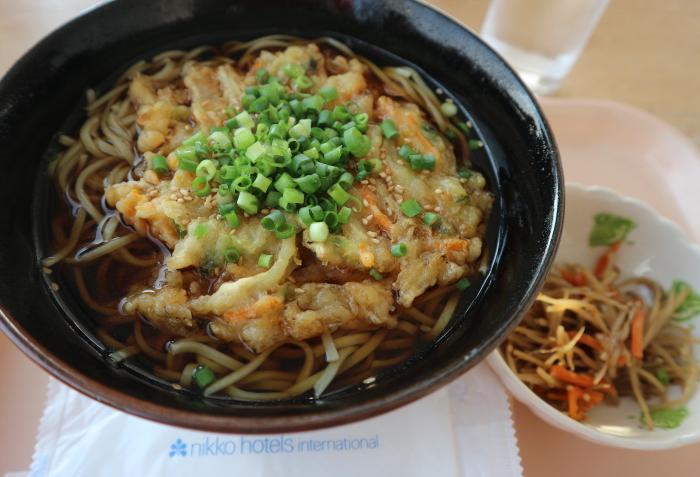 Soba from Panorama restaurant at Toki Messe Japan.