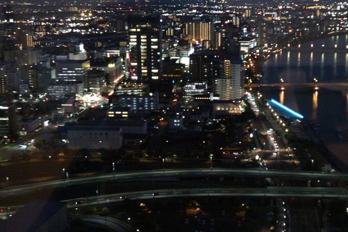 Night view of Toki Messe Niigata Japan.