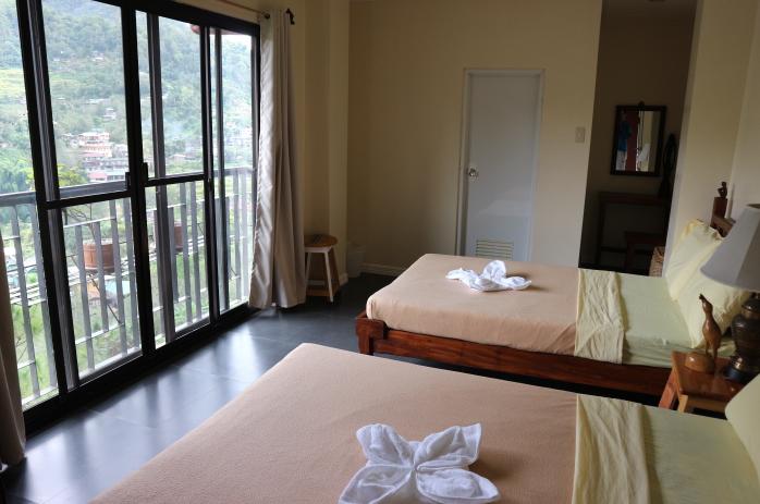 Sanafe Lodge Banaue room view.