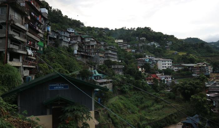 Arrangement of houses at Banaue.