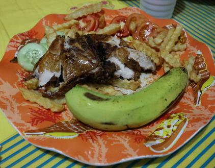 Menu from People's lodge restaurant, Banaue.