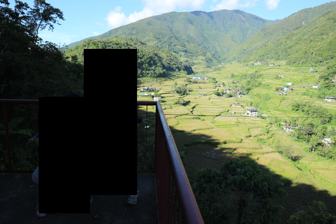 Viewing deck of Hapao Rice Terraces at Banaue, Philippines.