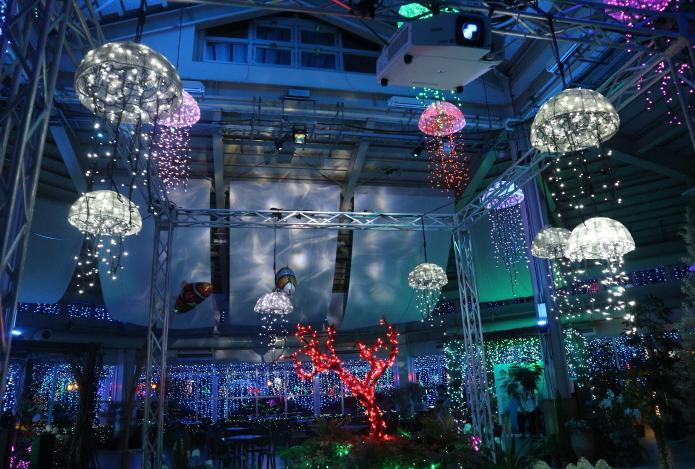 Ceiling display of Kira-kira Garden.