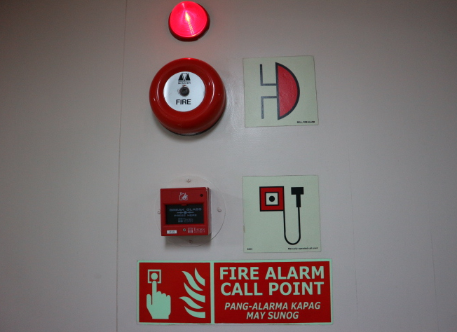 FIre alarm from 2go Travel Philippines.