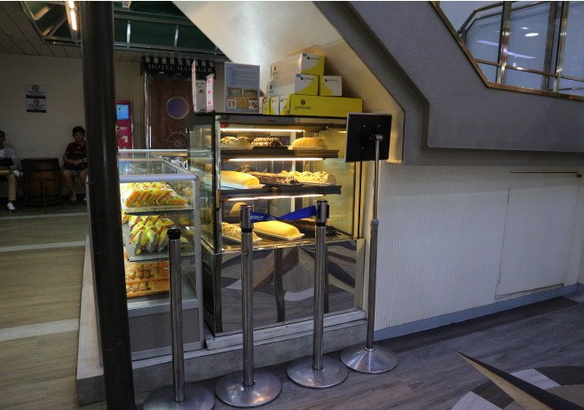 Bread station at 2Go Travel Ship.