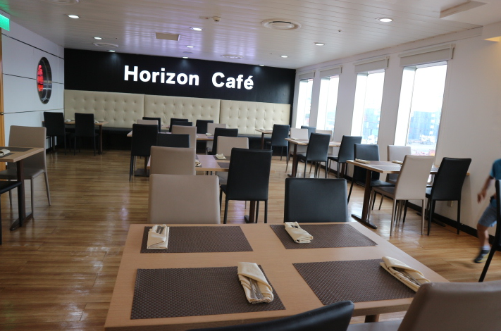 The Horizon Cafe Restaurant inside the 2go ship Philippines.