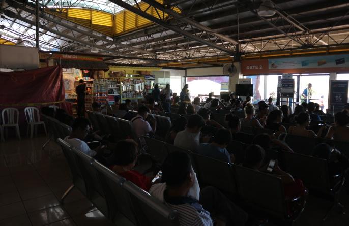 Coron airport waiting area.