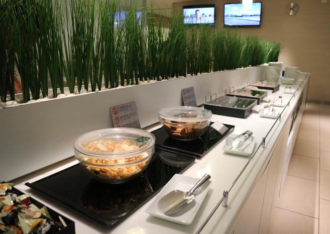 Narita, ANA domestic lounge serving area.
