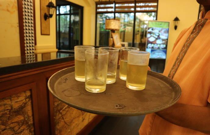 Sunlight Guest house welcome drinks.