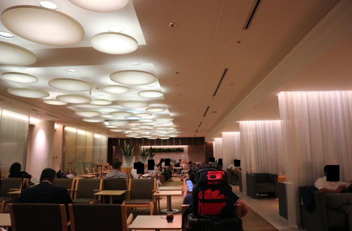 Dining area at ANA Lounge, Narita Domestic flight.