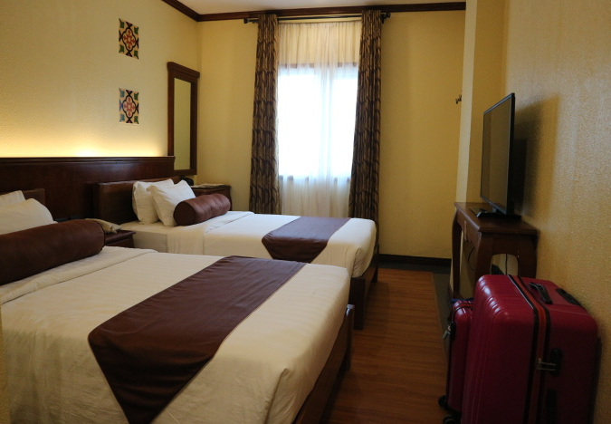 The Sunlight Guest Hotel room good for four persons.
