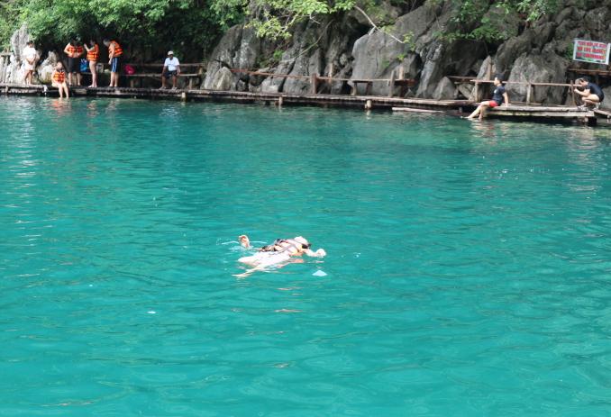 The Kayangin Lake COron Palawan Philippines.