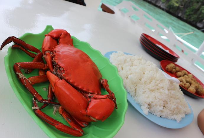 Our lunch at Twin lake Coron Palawan.