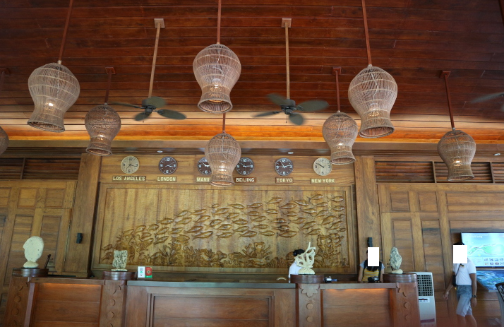 The reception area of the sunlight eco-tourism hotel and resorts.