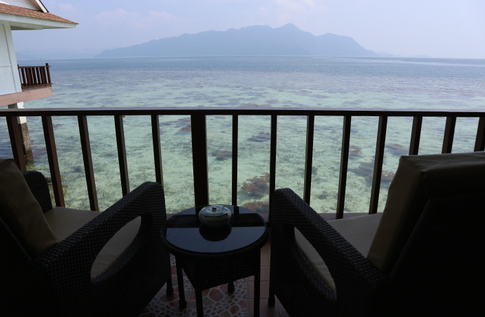The view from cluster room of sunlight eco-tourism hotel.
