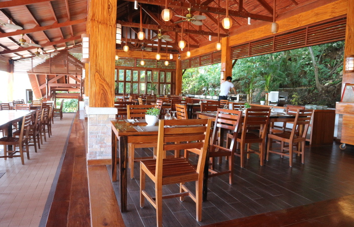 The restaurant of Sunlight Eco-tourism hotel and resort.