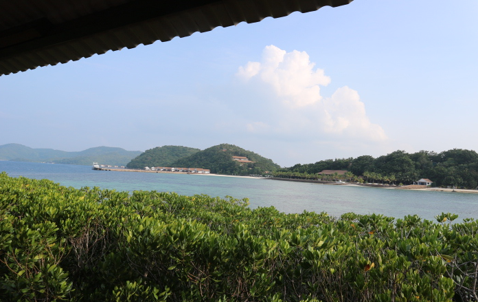 The view from Ricardo's island of Sunlight eco-tourism resorts.
