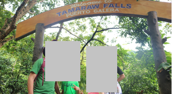 The entrance of artificial pool of Tamaraw falls.