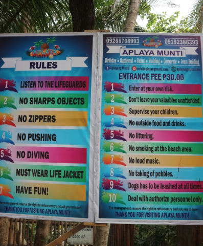 The Aplayang Munti Rules.