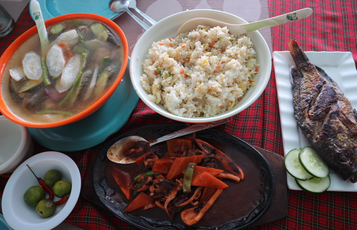 Our lunch at white beach.
