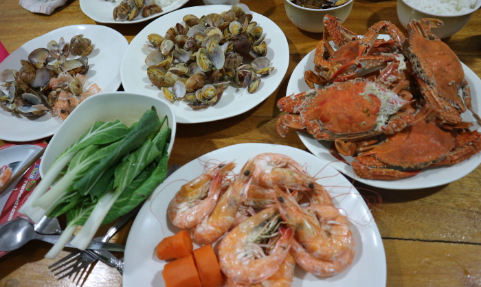 Another seafood dinner.