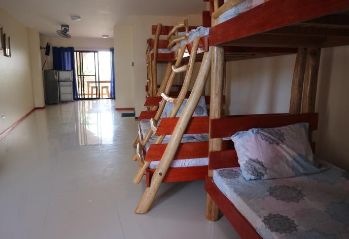 The room of beachfront Squares Apartment at Puerto Galera, Oriental Mindoro Philippines.