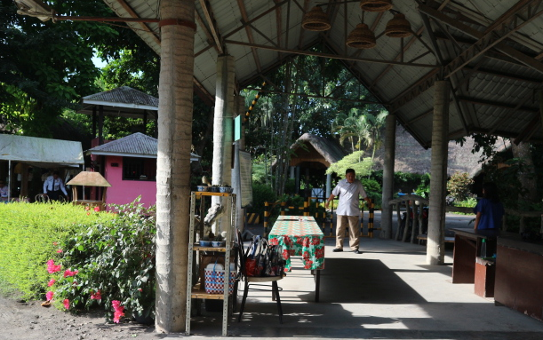 The gate to Museum and other attractions at Villa Escudero.