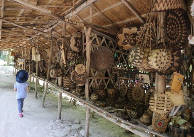 Mangyan Village Souviner shop.
