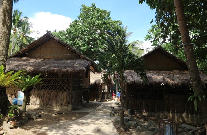 The mangyan Village houses.