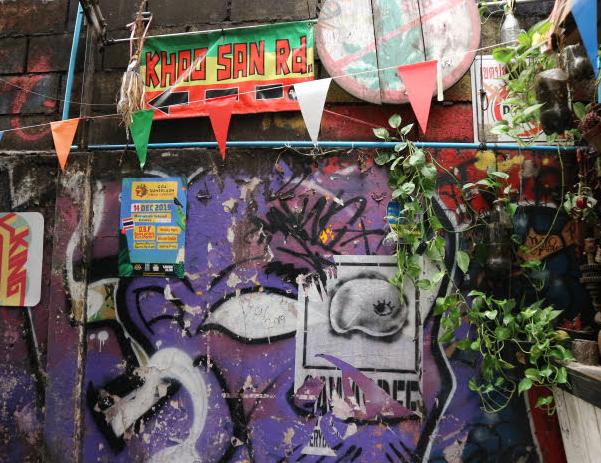 The street of Kaho San Road Bangkok Thailand.