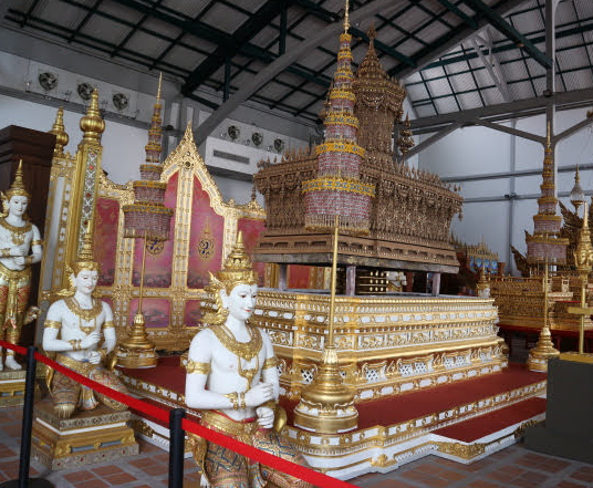 Coffins for the kings used in Bangkok Thailand.
