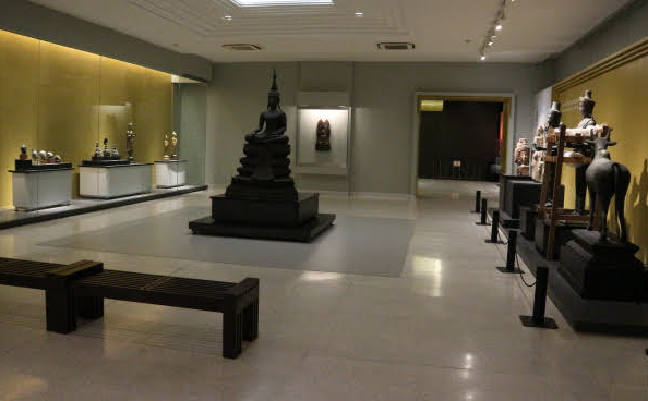 Inside the National Museum of Thailand.