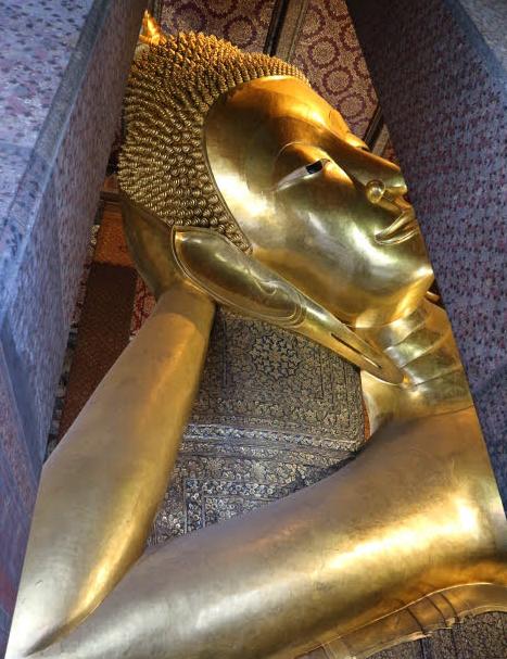The reclining Budhha at Bangkok Thailand.