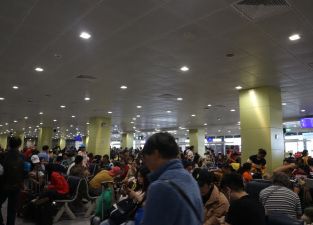 The waiting gate for flight to Myanmar.