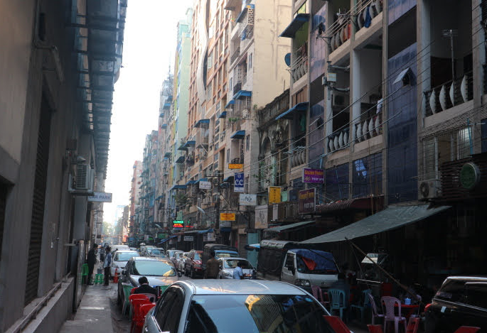 The Street of Clover Hotel Myanmar.
