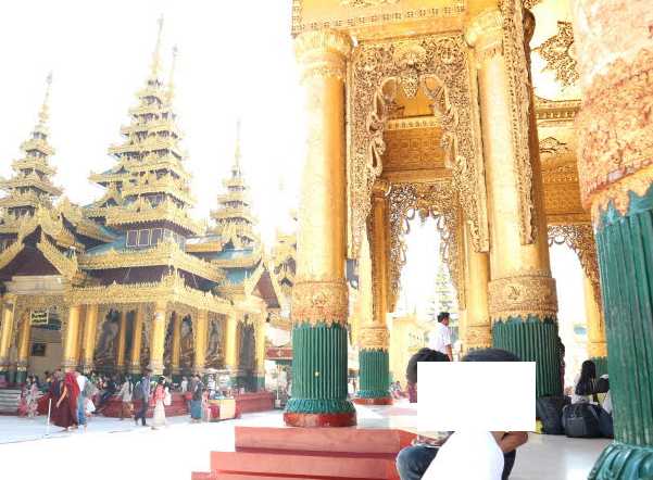 People of Myanmar paying respect to the Buddhist temple of Myanmar,