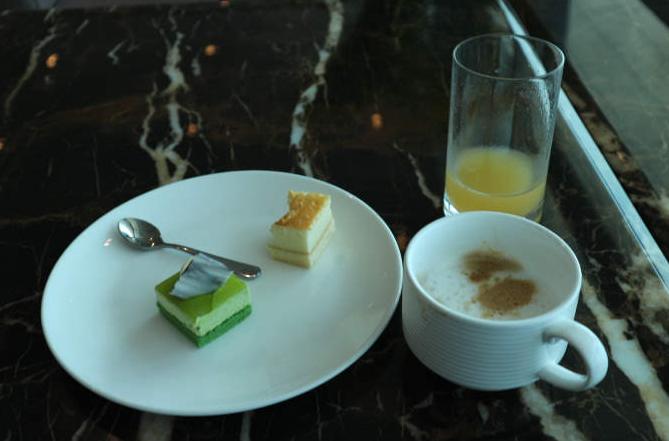 Lounge coffee and sweets.