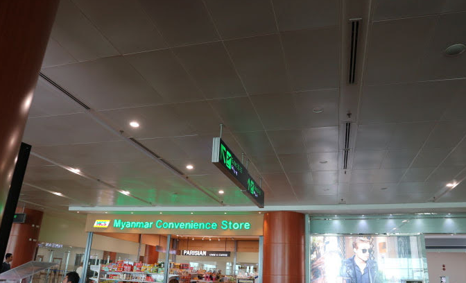 Myanmar COnveniece store Domestic flight.