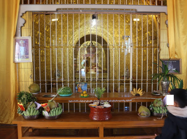 The Buddhist altar of Kakku Pagoda.