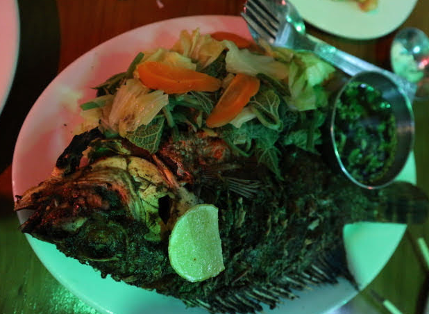 Grilled Tilapia from Sinoyaw Restaurant.