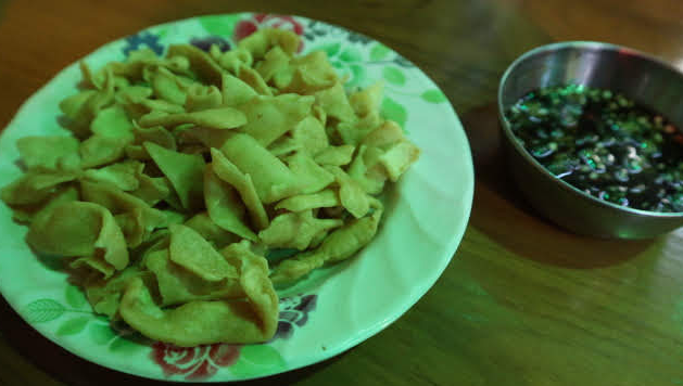 Appetizer from  Sinoyaw restaurant Heho Myanmar.
