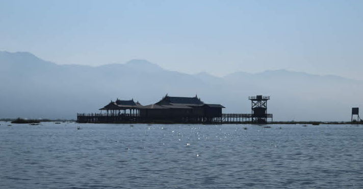 Floating house of Inle Lake Myanmar.
