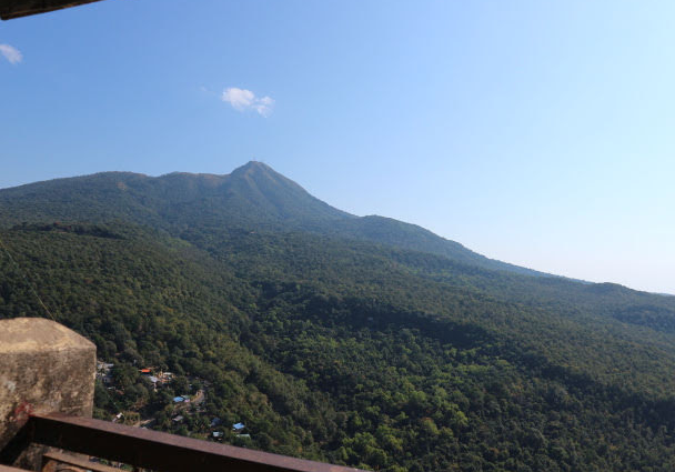 The view from the summit of Mount Popa.